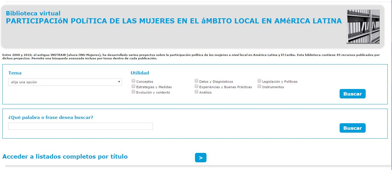 political participation library screenshot
