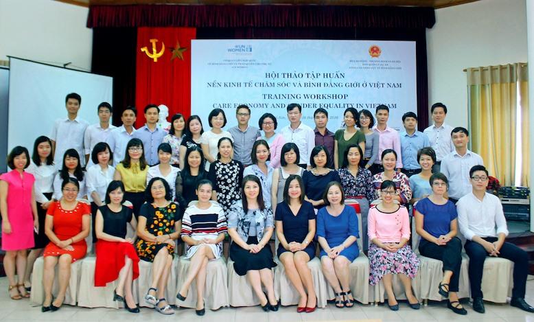 Vietnam Care Economy Workshop participants