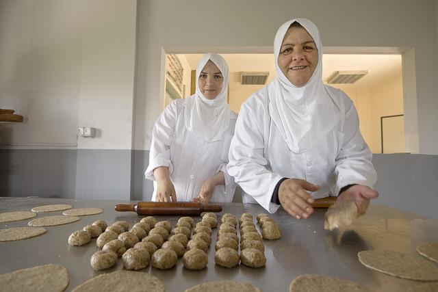 women baking