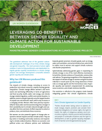 Brief: Leveraging co-benefits between gender equality and climate action for sustainable development - English