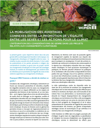 Brief: Leveraging co-benefits between gender equality and climate action for sustainable development - French
