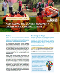 Addresing the gender inequality of risk in a changing climate